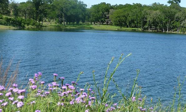 Boerne, TX lake scenery